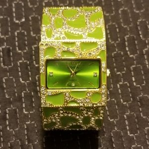 GEVEVA Chartreuse and Gold watch